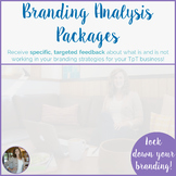 Branding Analysis Packages for Teacher-Authors