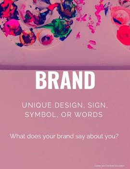 Branding Poster for  Marketing and Entrepreneurship