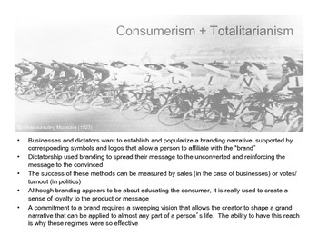 Branding Totalitarianism: Germany, Italy, the USSR + China (Presentation)
