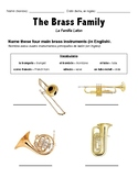 Brass Family ELL Worksheet