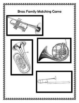 Brass Family Folder Matching Game