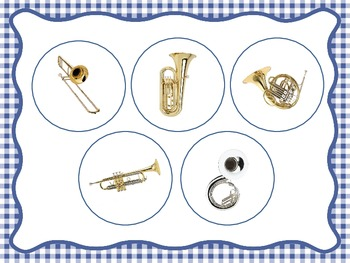 Brass Family Identification - File Folder Game/Music Room Centers