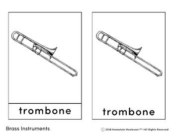 Brass Instrument 3 Part Cards