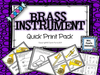 Brass Instrument Quick Print Pack