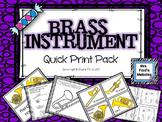 Brass Instrument Quick Print Pack