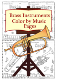 Brass  Instruments Color by Music Pages