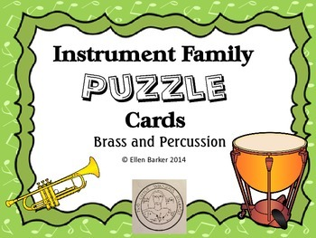 Brass-Percussion Puzzle Cards