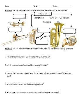 Brass Worksheet (Grades 2-5)