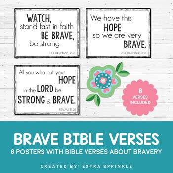 photograph regarding Braves Printable Schedule named FREEBIE Courageous Bible Verses Printable Posters by way of Further