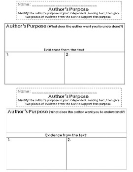 Brave Girl Lesson Plan 4: Author's Purpose