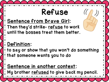 Brave Girl Read Aloud and Supplementary ELA Activities