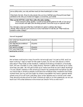 Brave Girl - literacy skills multiple choice and writing assignment