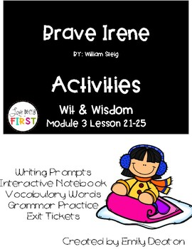 Brave Irene Activities First Grade Wit and Wisdom