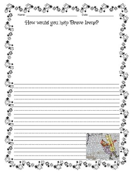 BRAVE IRENE - Activities with Writing Starters