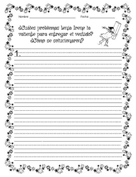BRAVE IRENE- Activities with Writing Starters - Spanish