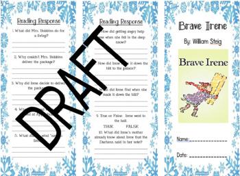 Brave Irene Comprehension Brochure