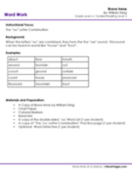 Brave Irene Lesson Plans & Activities Package, Fourth Grade (CCSS)