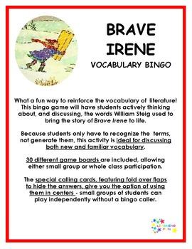 Brave Irene Vocabulary Bingo