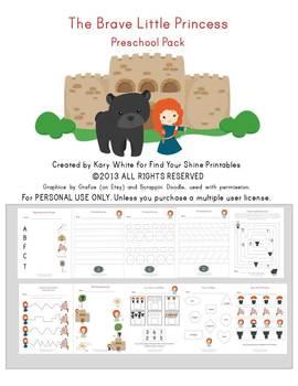Brave Little Princess Preschool Pack