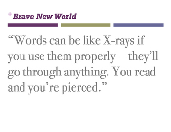Brave New Wold Quotes (Classroom Displays)