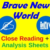 Brave New Word Close Reading + Analysis Sheets