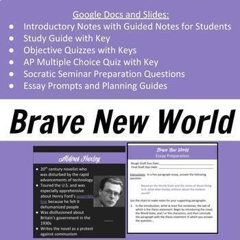 Brave New World Introduction, Study Guide, Quizzes, and Essay Prompt
