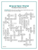 Brave New World: 50-Word Prereading Crossword—Great Prep for the Book!
