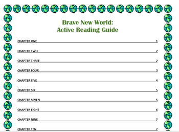 Brave New World Active Reading Guide / Comprehension Questions