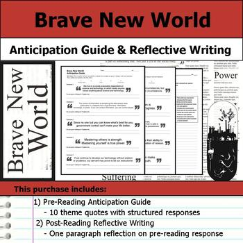 Brave New World - Anticipation Guide & Post Reading Reflection