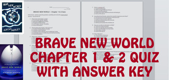 Brave New World Chapter 1-2 Quiz With Answer Key