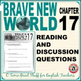 Brave New World Chapter 17 Comprehension and Analysis Activities with Key