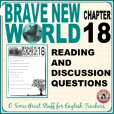 Brave New World Chapter 18 Comprehension and Analysis Activity