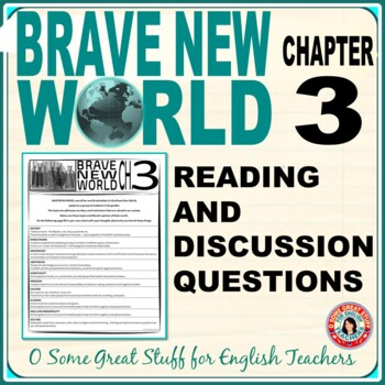 Brave New World Chapter 3 Comprehension and Analysis Activity with Key