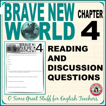 Brave New World Chapter 4 Comprehension and Analysis Activities with Key