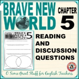 BRAVE NEW WORLD Chapter 5 Comprehension and Analysis Activity with Key