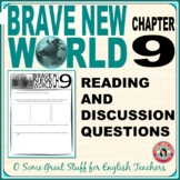 Brave New World Chapter 9 Comprehension and Analysis Activities with Key
