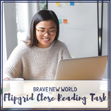 Brave New World: Close Reading and Annotation Flipgrid Challenges