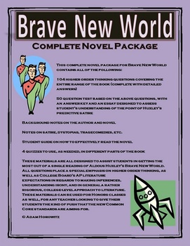 Brave New World Complete Novel Package