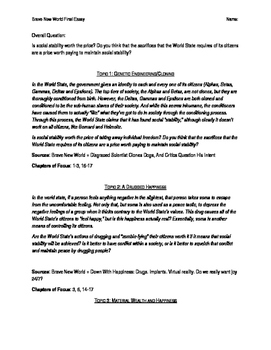 brave new world final essay prompts by english nerd tpt brave new world final essay prompts