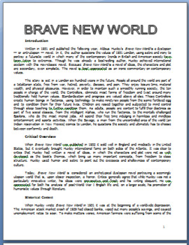 Brave New World Parallels to 1984 and Introduction to Brave New World