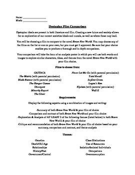 """Brave New World"" Movie Comparison Poster Project"