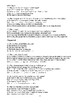 Brave New World Novel Quiz Chapters 1 to 6 Multiple Choice Answer Key Included