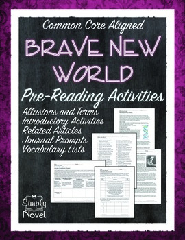 Brave New World Pre-Reading Activities