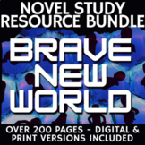 Brave New World Novel Study & Teacher Guide, Lessons, Activities, Tests