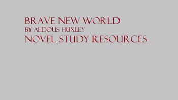 Brave New World Reading and Writing Quizzes