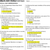 Brave New World Test Maker (Choose from 120 exam items.)