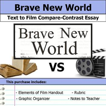 Brave New World - Text to Film - Compare & Contrast Essay Bundle