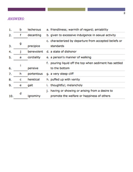 Brave New World Vocabulary Quiz (Ch. 8-9)