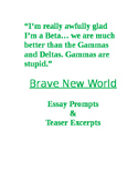 Brave New World essay prompts and teaser excerpts