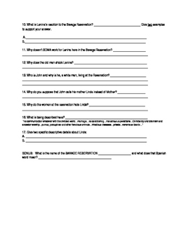 Brave New WorldL Ch. 6,7 worksheet (2 days)